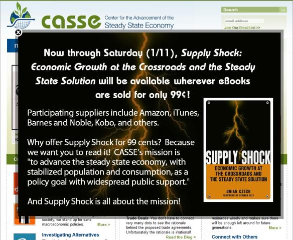 Supply Shock .99c offer until Jan 11 2014